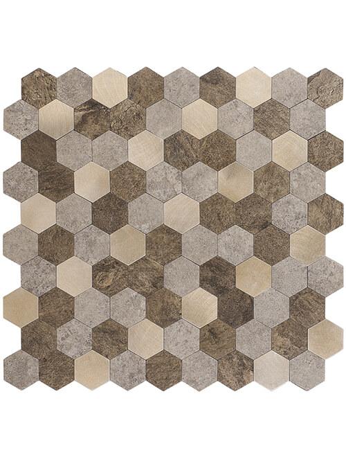 peel and stick composite pvc stone tile hex