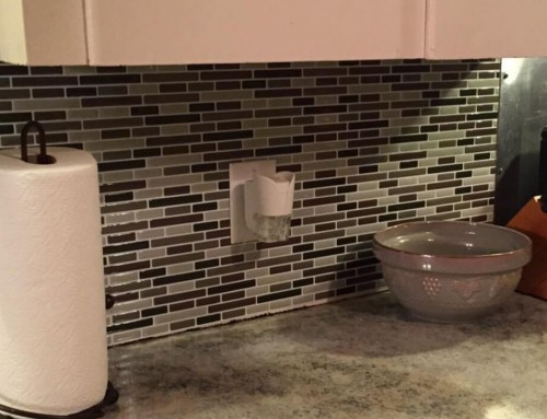 RV Backsplash Renovation Budget Saving Ideas with Peel Stick Tiles