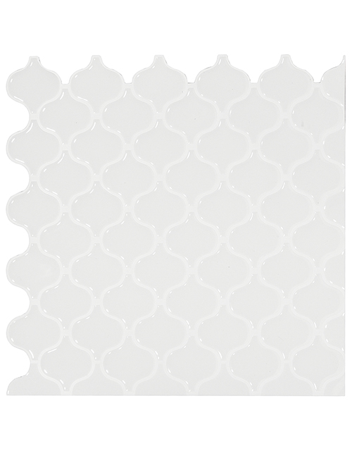 white lantern tile backsplash