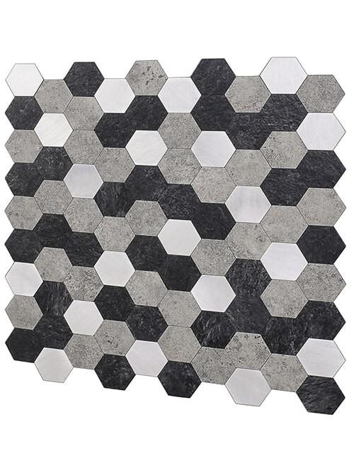peel n stick stone composite tile backsplash