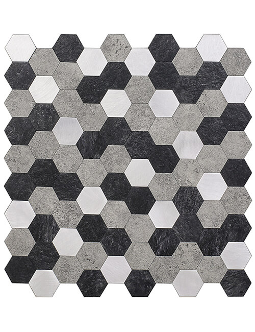 peel stick composite stone mosaic