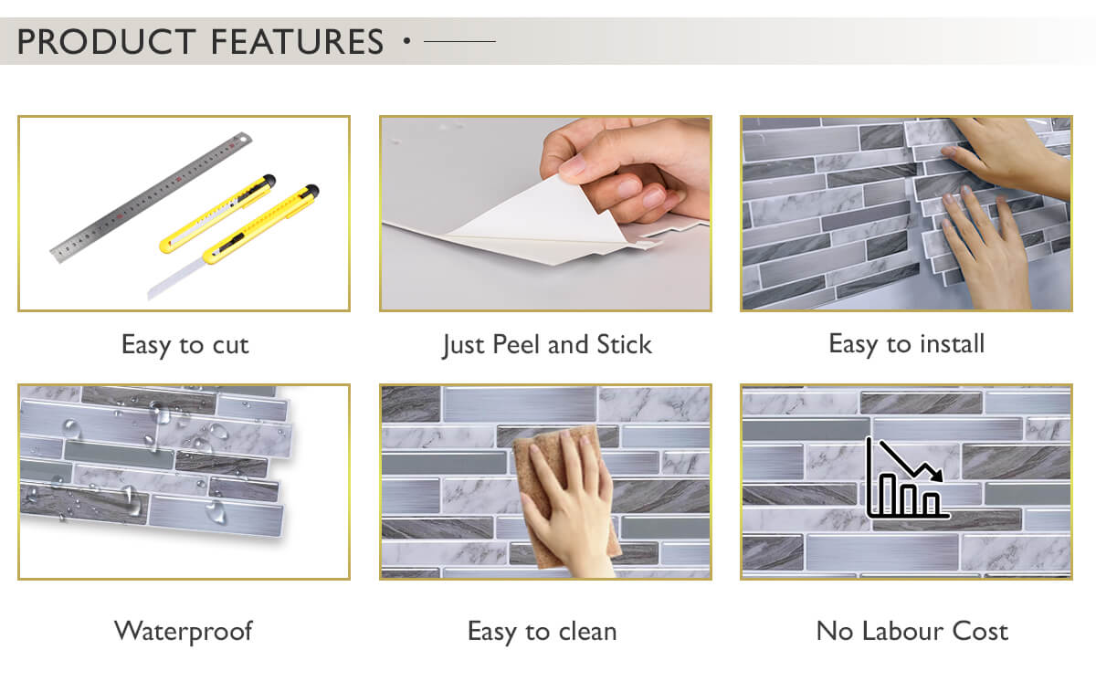 the advantages of using peel and stick tiles