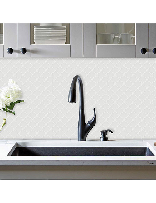 arasbeque white tile for walls behind the sink