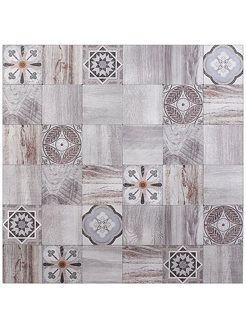 Moroccan wood pattern tile