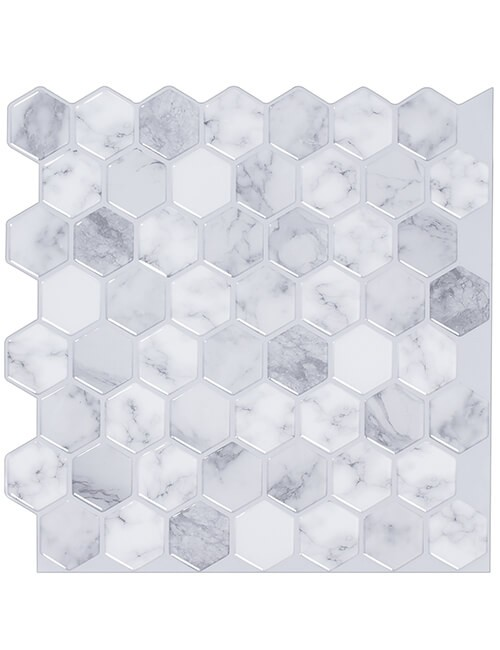 carrara marble hexagon tile