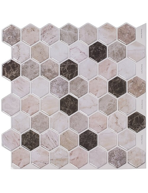 peel stick beige marble tile