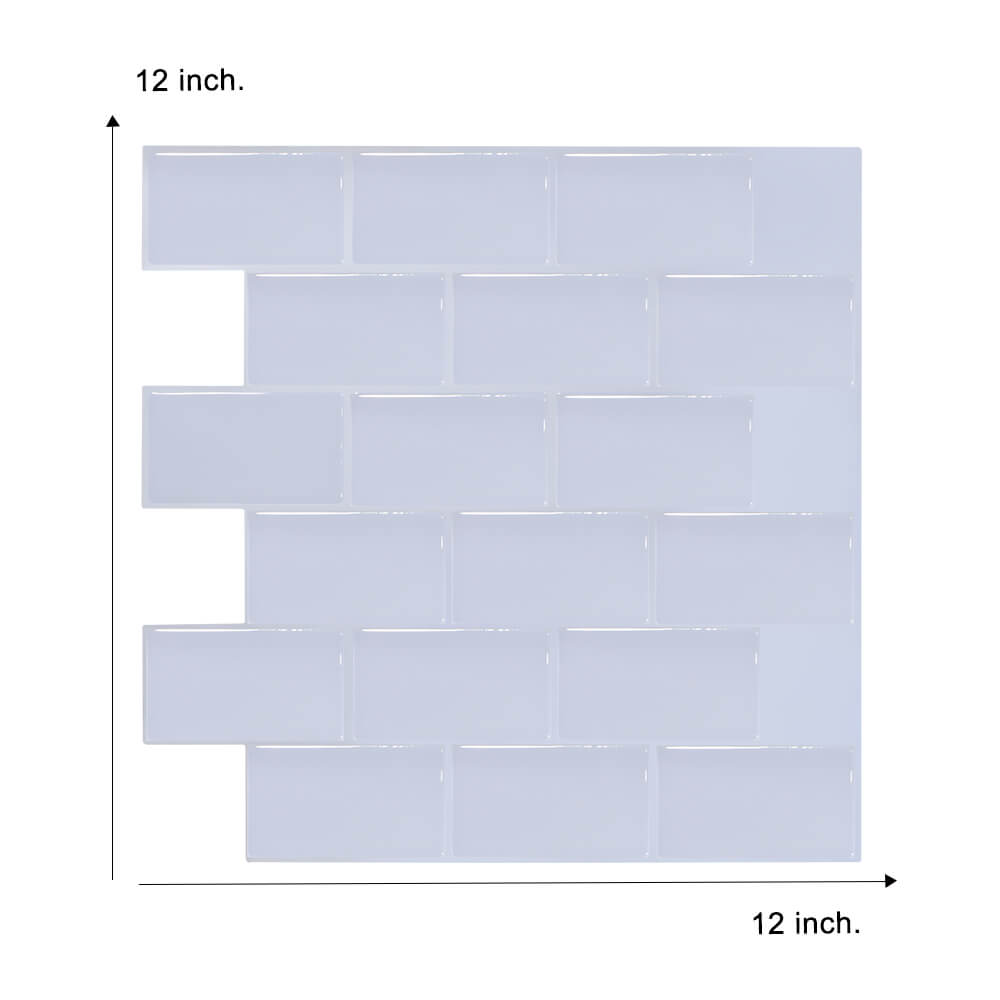 pure white peel and stick tile