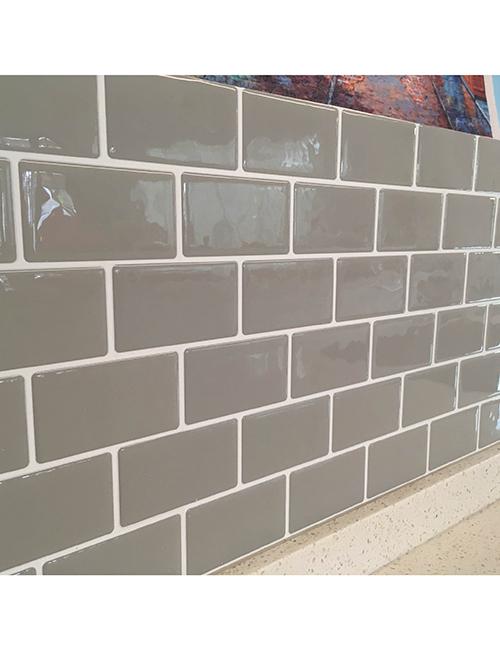 kitchen backsplash grey subway tile