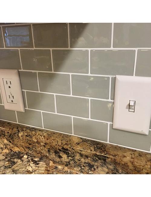 grey subway wall tiles