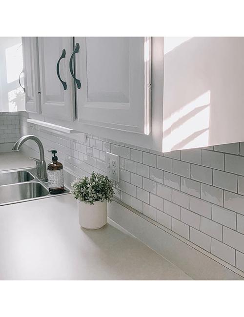 kitchen backsplash white subway tile