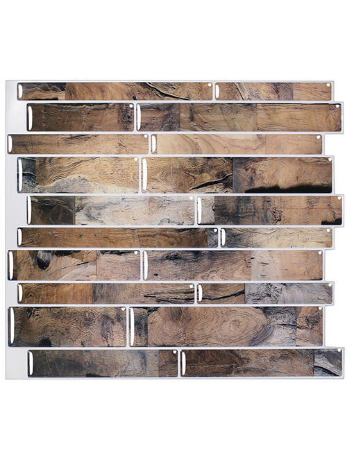 peel and stick tile wood look