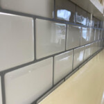 White Peel and Stick Tile with Grey Grout 12 x 12 inch CM90102 (6pcs pack) photo review