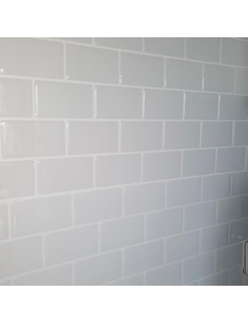 peel and stick white vinyl subway tile backsplash