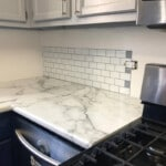 White Peel and Stick Tile with Grey Grout 12 x 12 inch CM90102 photo review