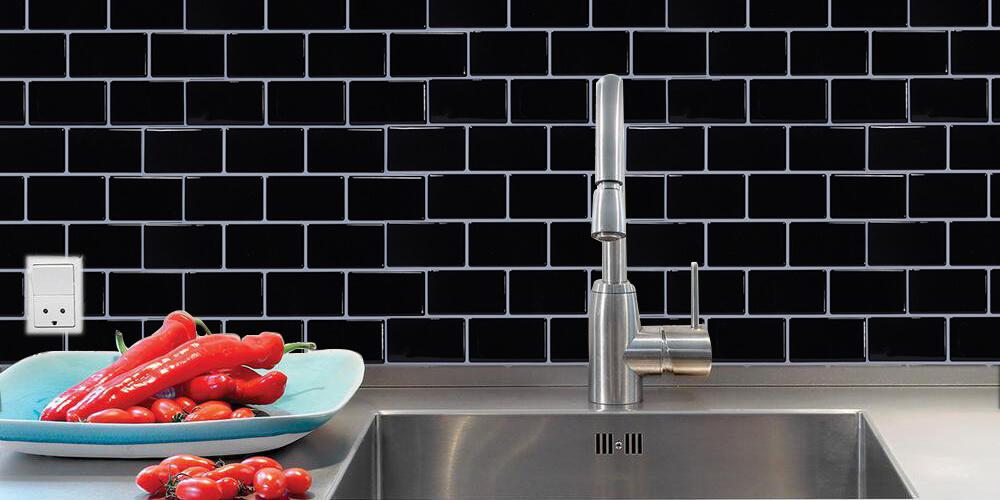 best adhesive black tile