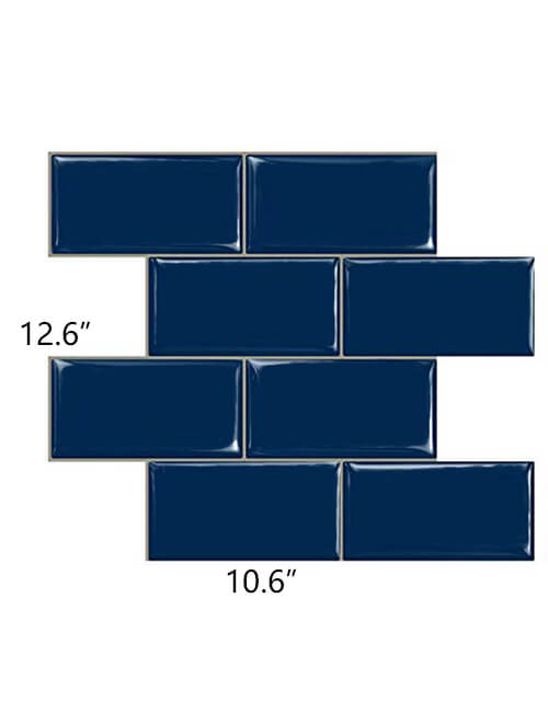 big size blue subway tile