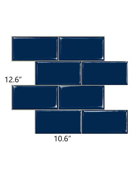big size blue subway tile