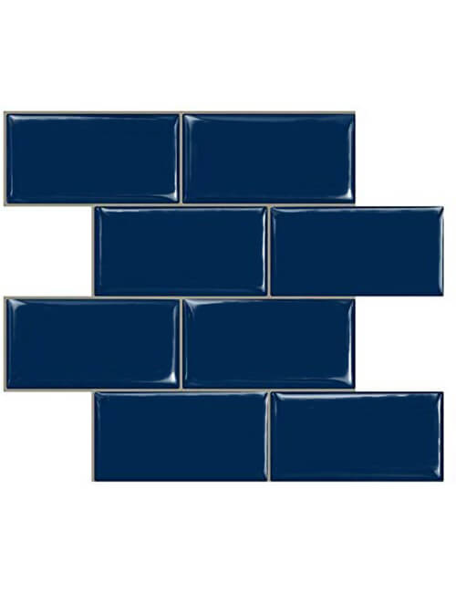 Peel And Stick Navy Blue Subway Tile Backsplash Clever Mosaics