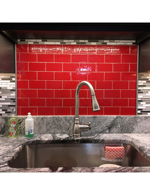 red tile kitchen