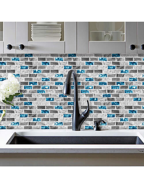 glass & stone mosaic tile for kitchen