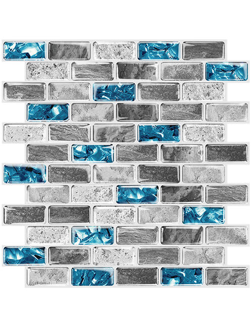 self adhesive glass and stone tile