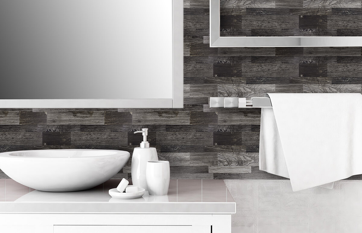 peel stick wood tile for bathroom wall