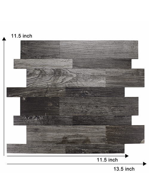 big size peel stick wood tile