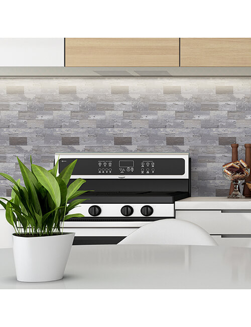 peel and stick kithen backsplash wood panel tile