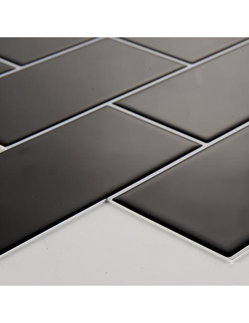 black thicker subway tile