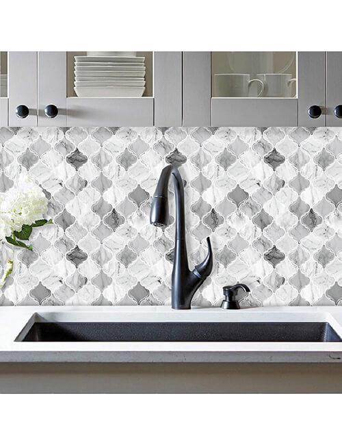 waterproof arabesque marble tile for walls behind the sinke