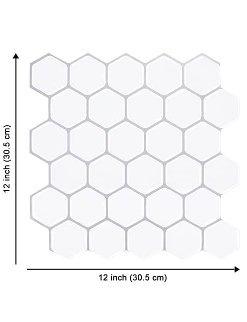 big size white hexagon tile