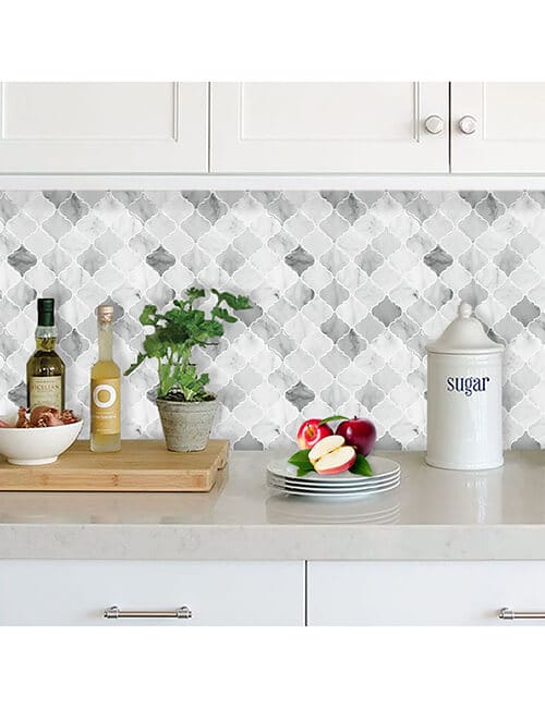 arabesque marble vinyl tile for kitchen walls