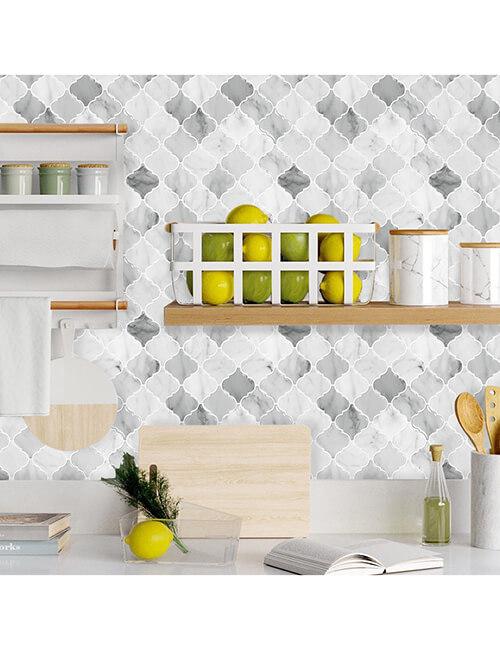 mordern timeless arabesque marble vinyl tile