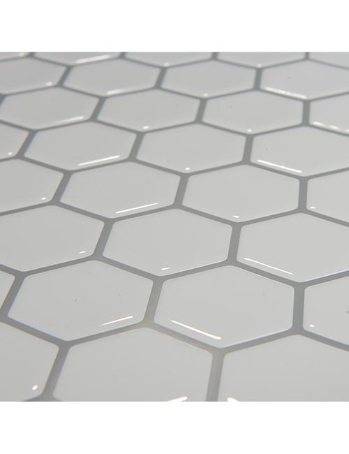 glossy 3d hexagon white tile