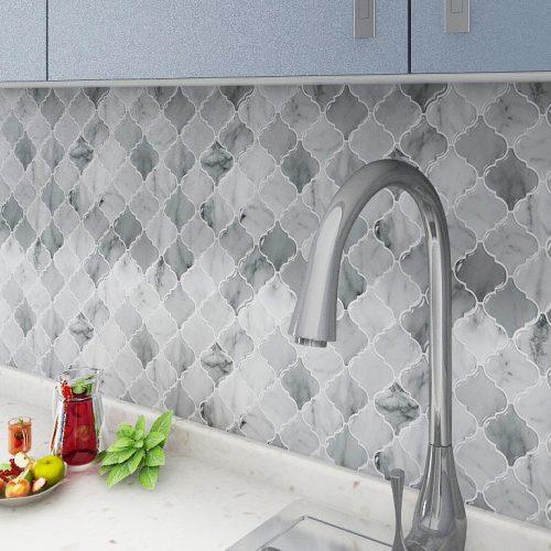 Arasbesque Carrara Marble Tile Peel and Stick CM81511 (6pcs pack) photo review