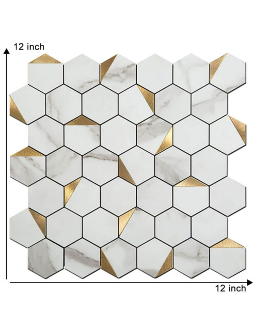12 x 12 inch peel and stick hexagon tile