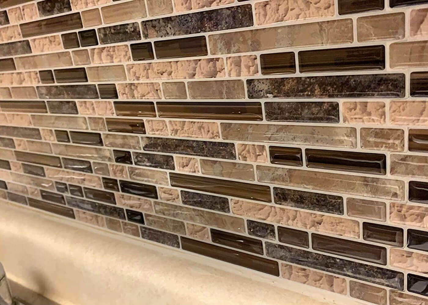 peel and stick strip stone tile for home walls
