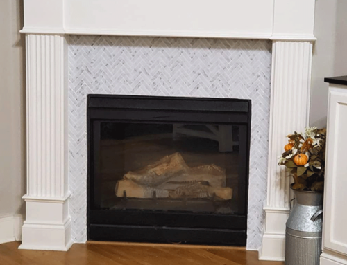 Peel and Stick Tile Fireplace Ideas
