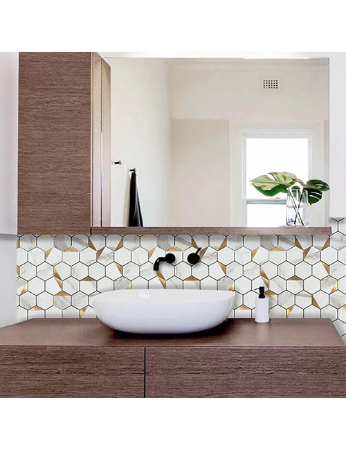 hexagon stone marble aluminum tile for home walls