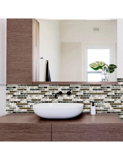 peel and stick strip stone tile for bathroom