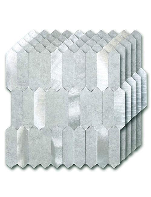 stick up metal pvc hexagon tiles