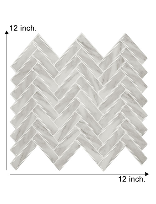 12 x 12inch peel and stick gray stone tile