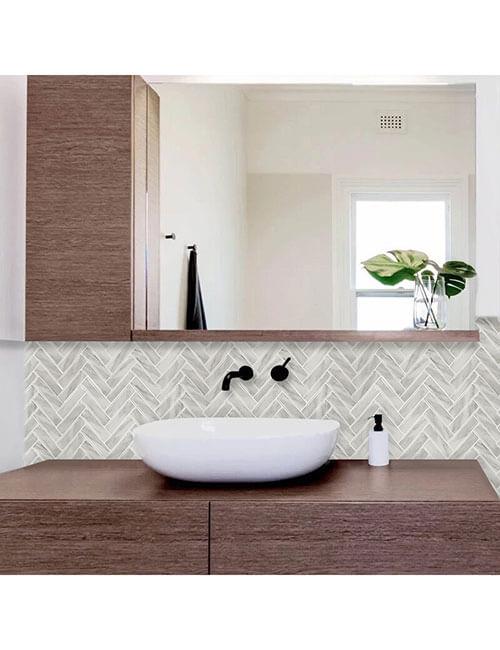 peel and stick stone marble tile for bathroom backsplash