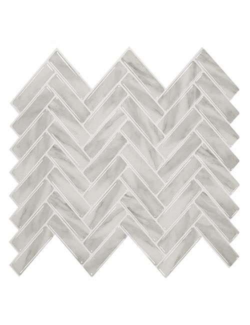 peel and stick stone herringbone tile