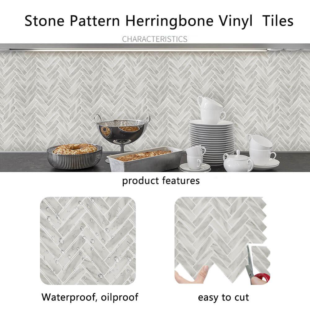 advantages of peel and stick herringbone vinyl tile