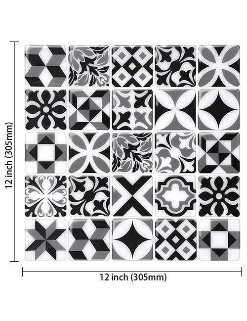 """12"""" x 12"""" peel and stick mosaic moroccan tile"""
