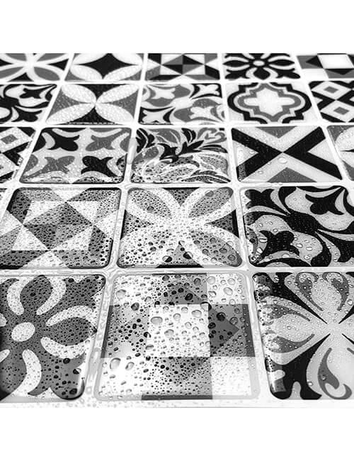 waterproof moroccan design mosaic vinyl tile sticker