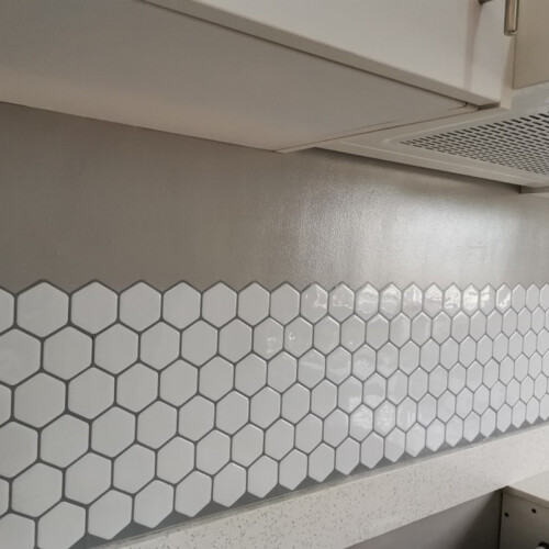 Hexagon Vinyl Tile Sticker CM80303 photo review